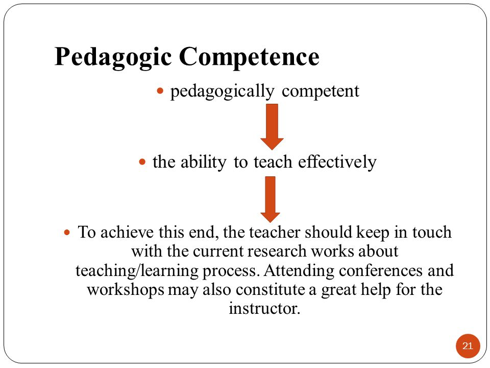 Pedagogic Competence pedagogically competent