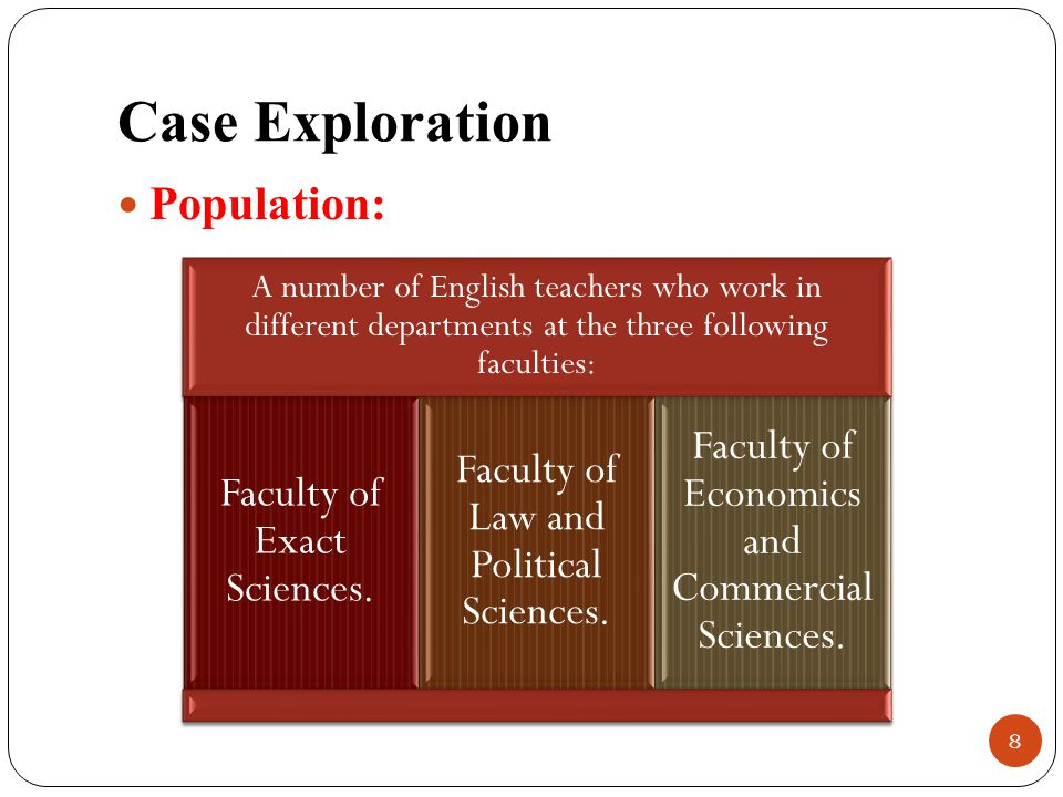 Case Exploration Population: