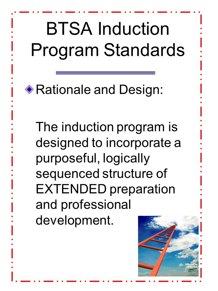 BTSA Induction Program Standards