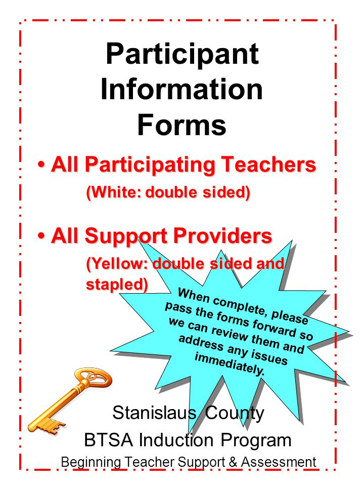 Participant Information Forms