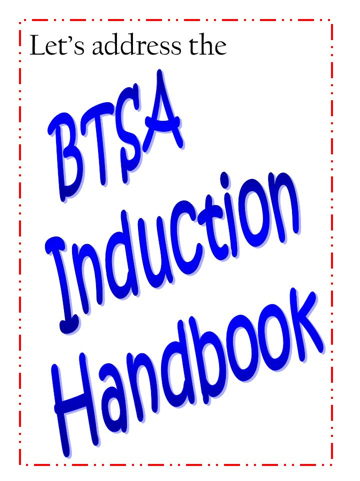 Let's address the BTSA Induction Handbook