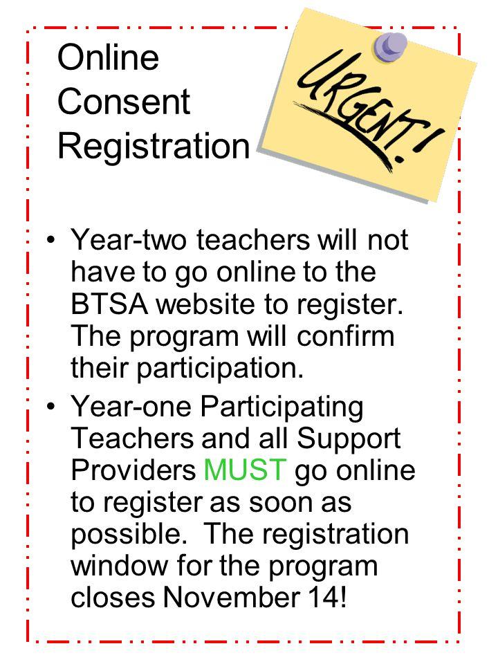Online Consent Registration