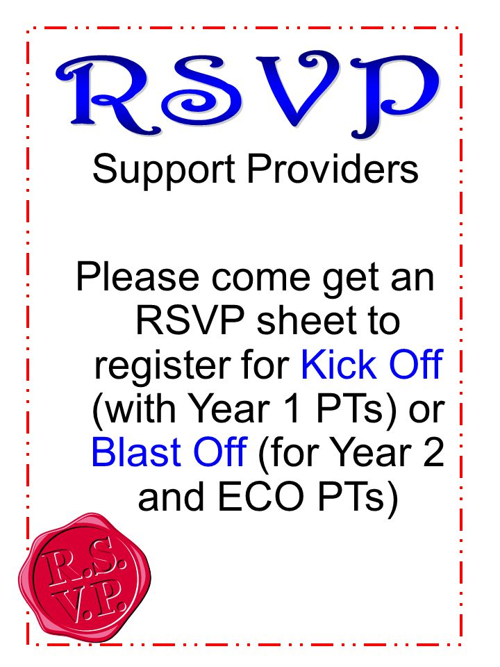 RSVP Support Providers.