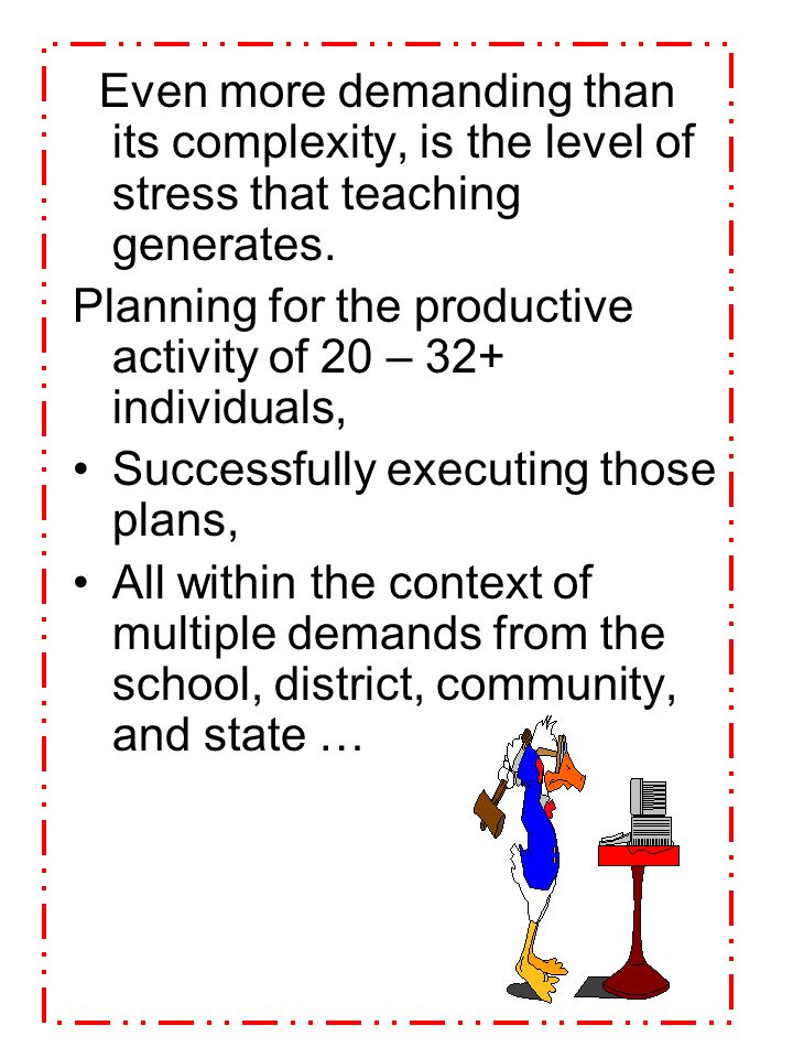 Planning for the productive activity of 20 – 32+ individuals,