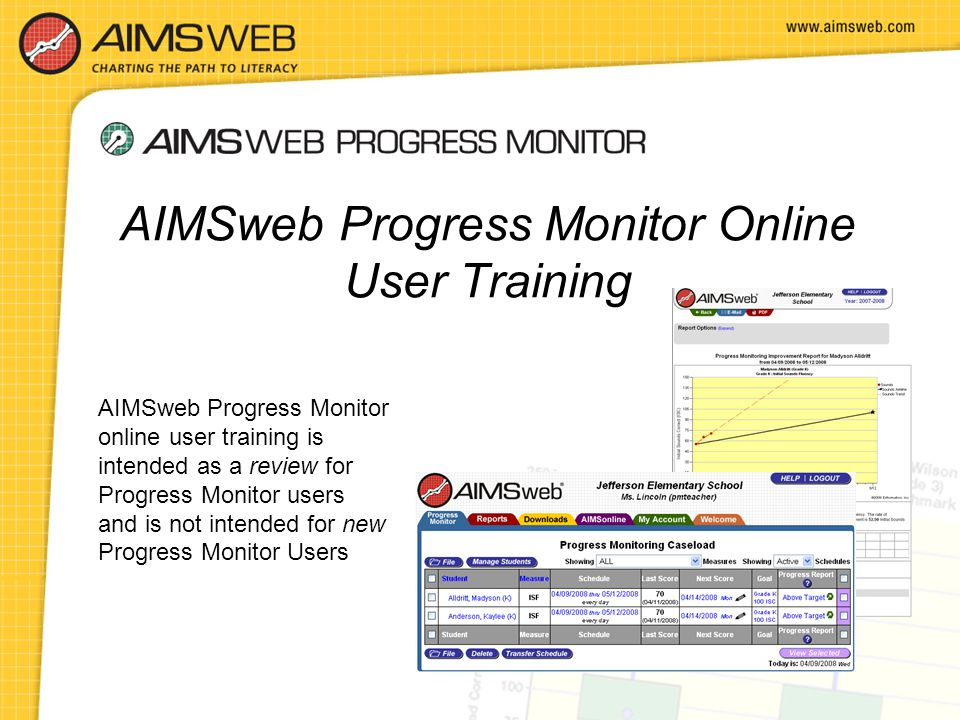 AIMSweb Progress Monitor Online User Training