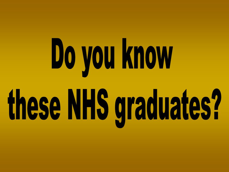 Do you know these NHS graduates