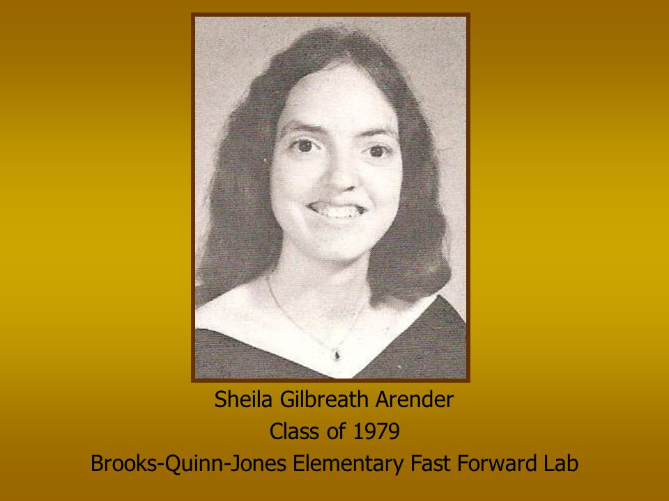 Sheila Gilbreath Arender Class of 1979