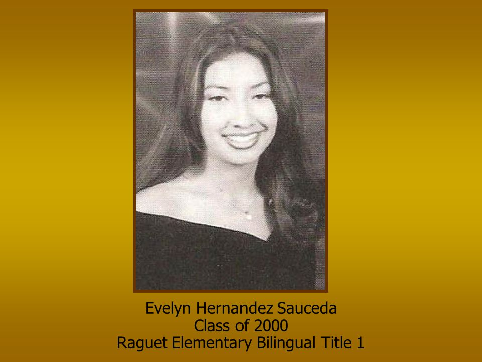 Evelyn Hernandez Sauceda Class of 2000