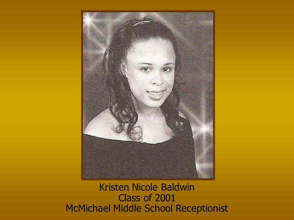 Kristen Nicole Baldwin Class of 2001
