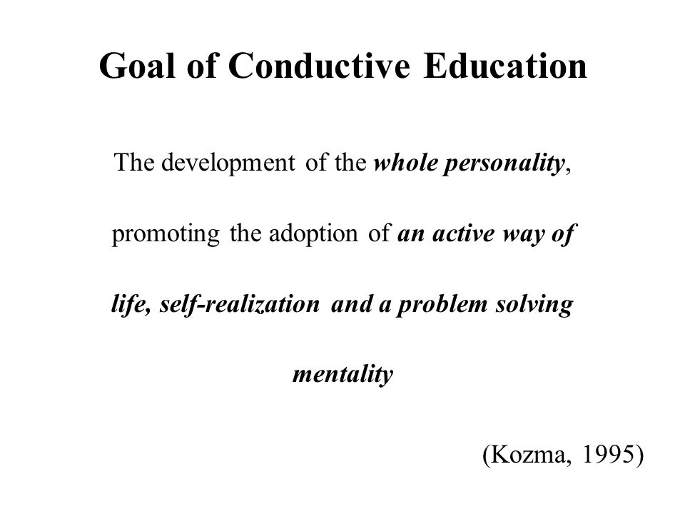 Goal of Conductive Education