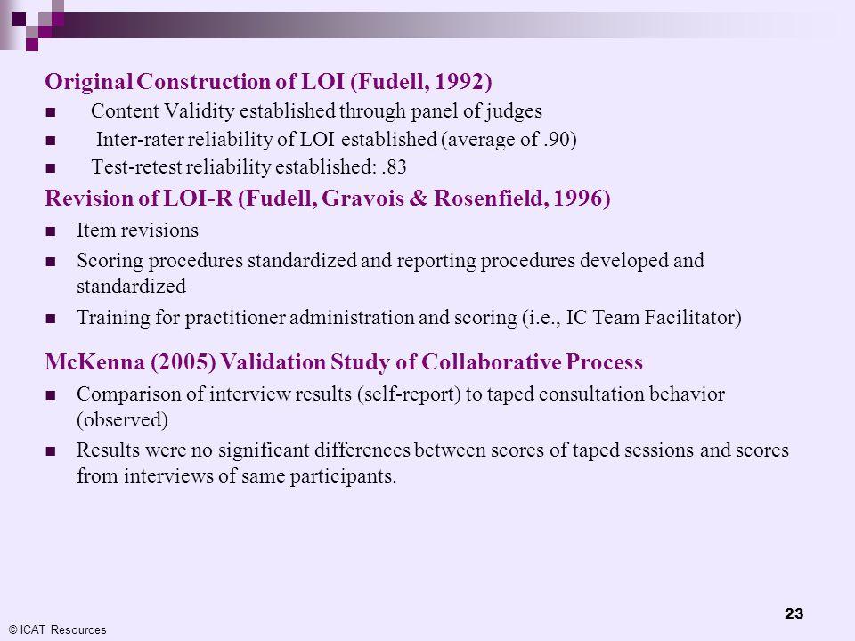 Original Construction of LOI (Fudell, 1992)