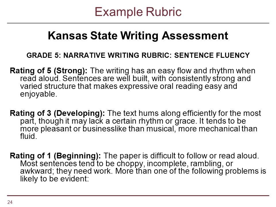 Kansas State Writing Assessment