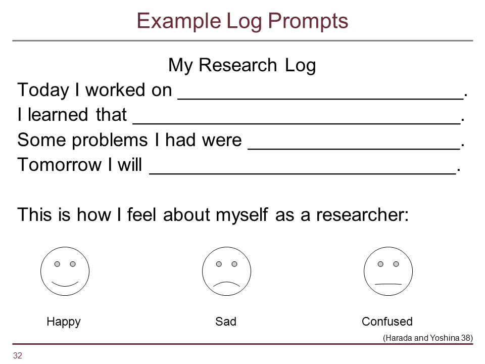 Example Log Prompts My Research Log