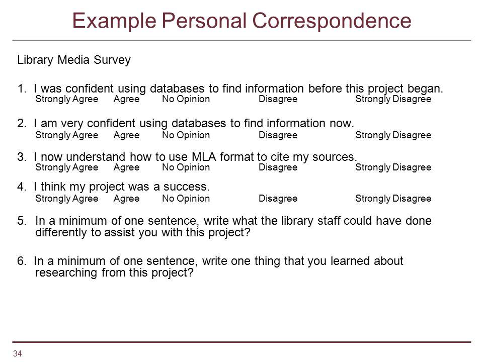 Example Personal Correspondence