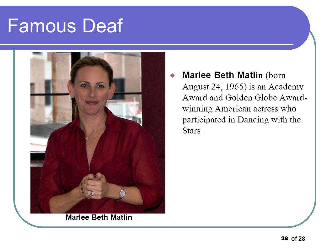 Famous Deaf