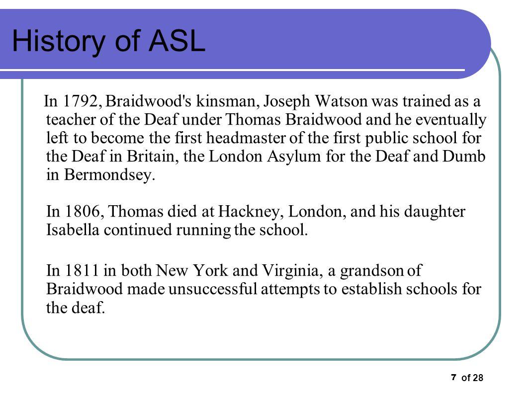 History of ASL