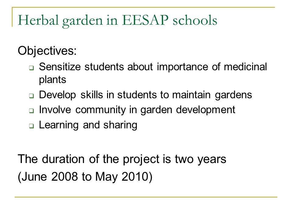 Herbal garden in EESAP schools