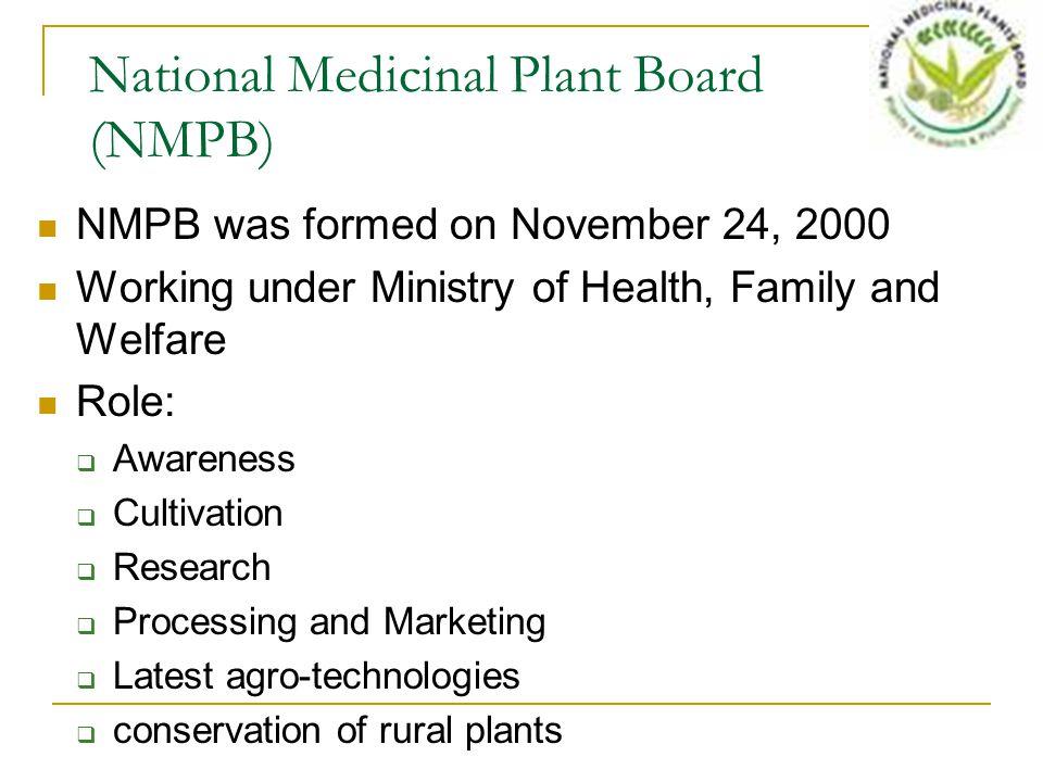 National Medicinal Plant Board (NMPB)