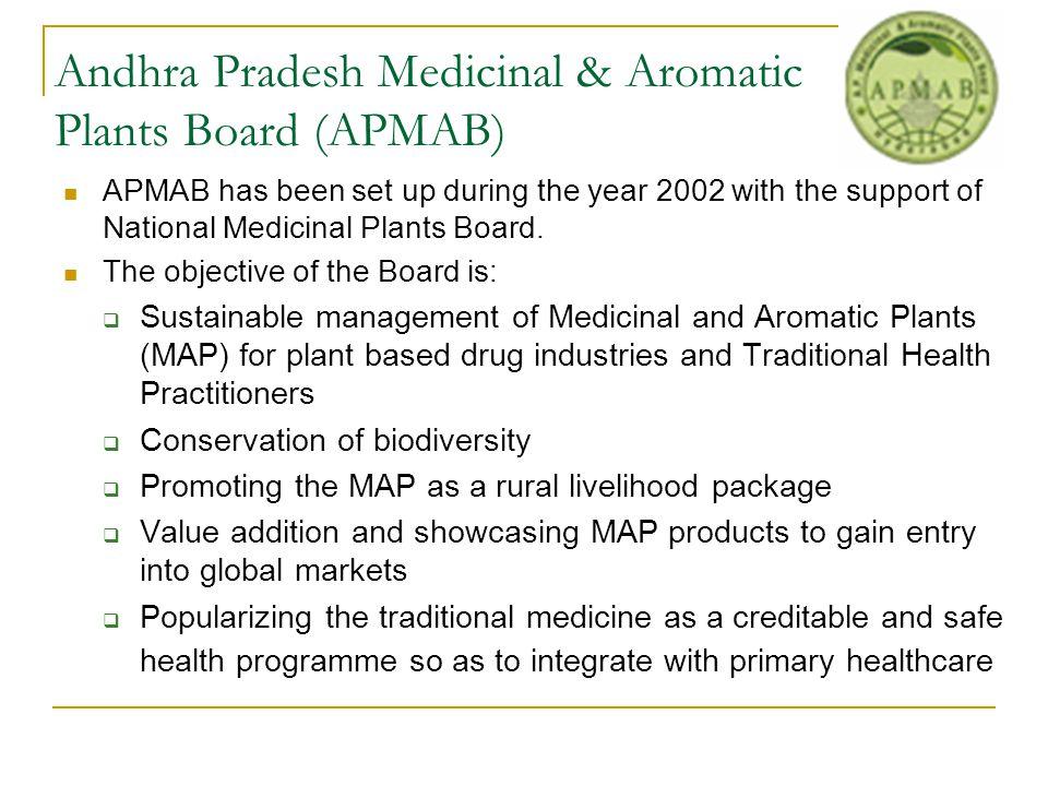 Andhra Pradesh Medicinal & Aromatic Plants Board (APMAB)