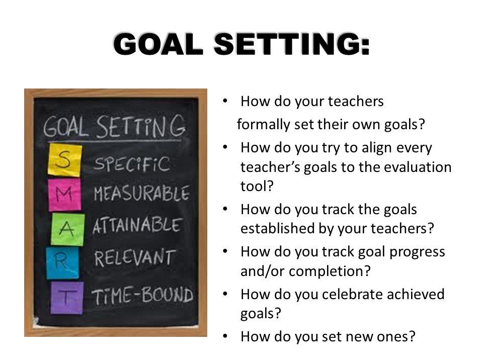GOAL SETTING: How do your teachers formally set their own goals