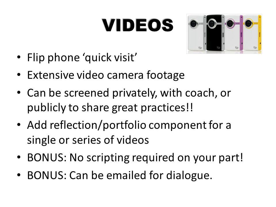 VIDEOS Flip phone 'quick visit' Extensive video camera footage