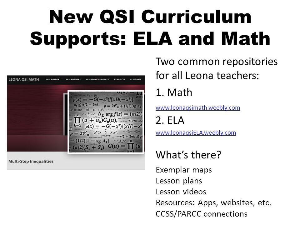 New QSI Curriculum Supports: ELA and Math