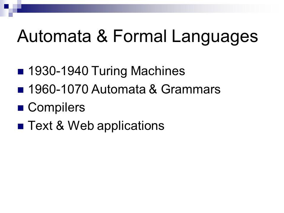 Automata & Formal Languages
