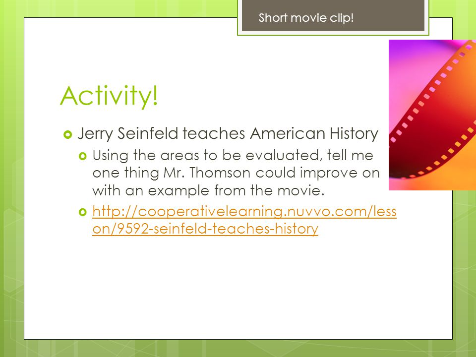 Activity! Jerry Seinfeld teaches American History