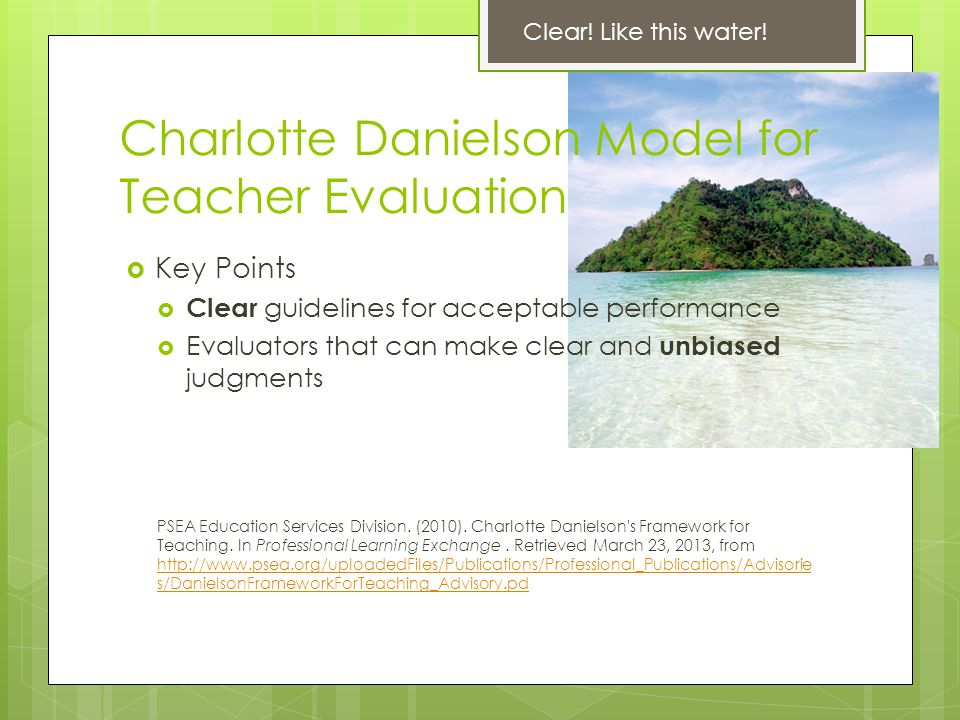 Charlotte Danielson Model for Teacher Evaluation