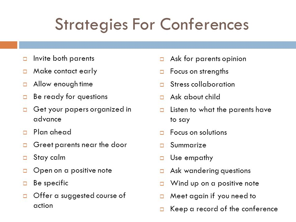 Strategies For Conferences