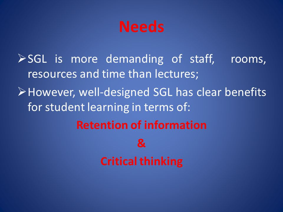 Retention of information