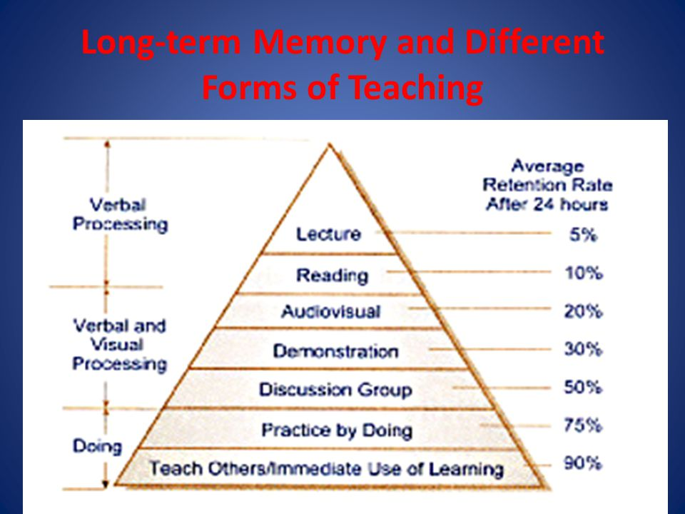 Long-term Memory and Different Forms of Teaching