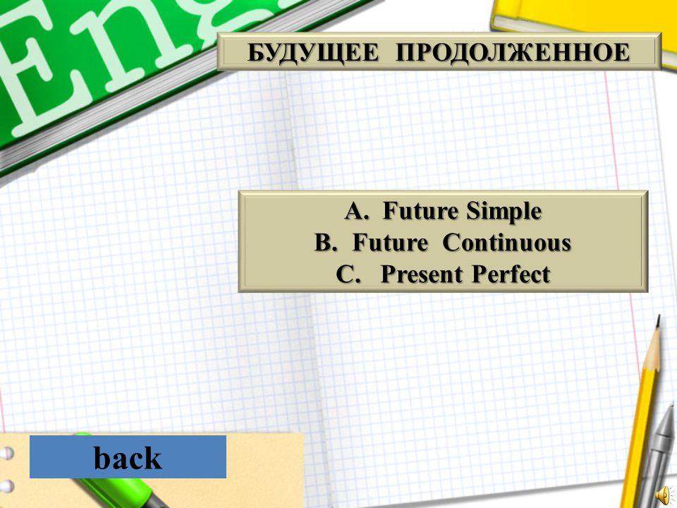 back БУДУЩЕЕ ПРОДОЛЖЕННОЕ Future Simple Future Continuous