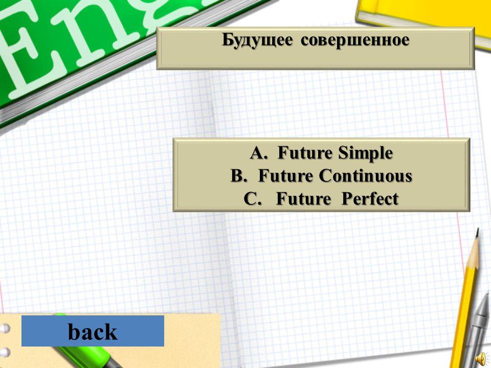 back Будущее совершенное Future Simple Future Continuous