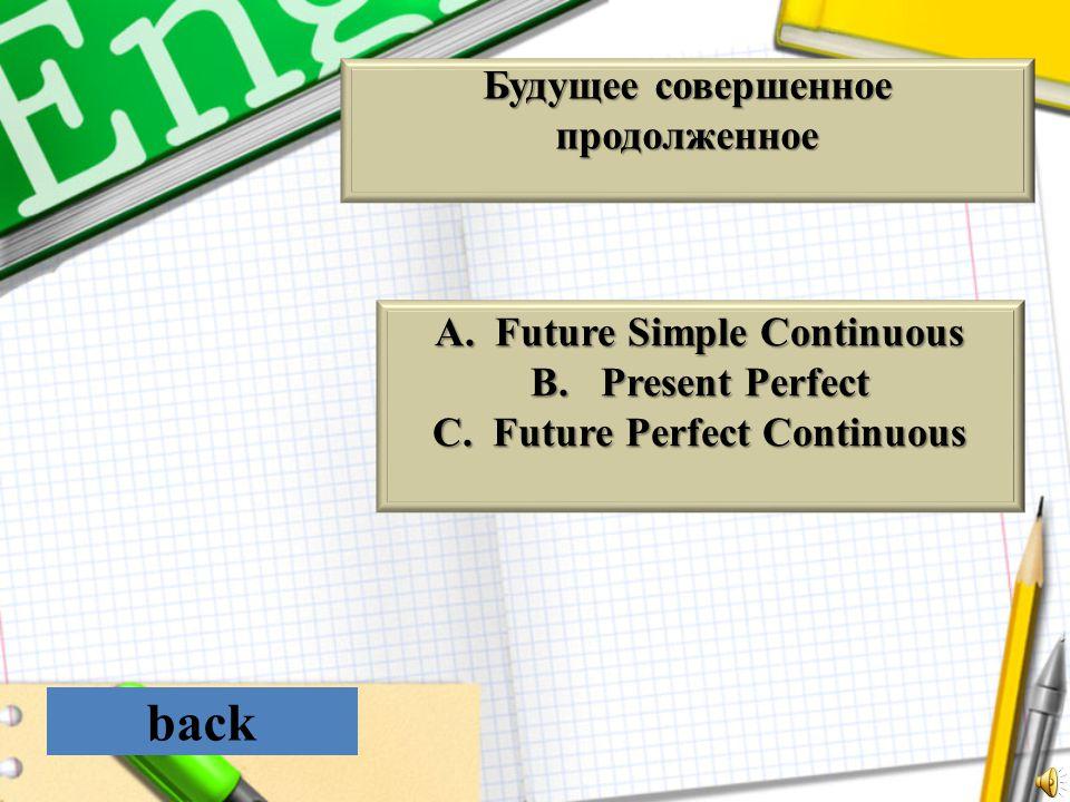 back Будущее совершенное продолженное Future Simple Continuous