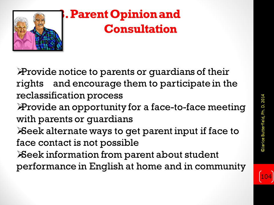 3. Parent Opinion and Consultation