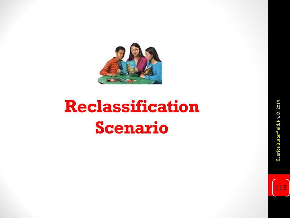 Reclassification Scenario