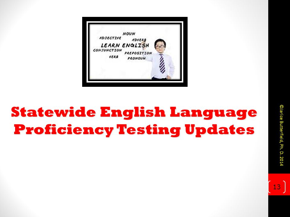 Statewide English Language Proficiency Testing Updates