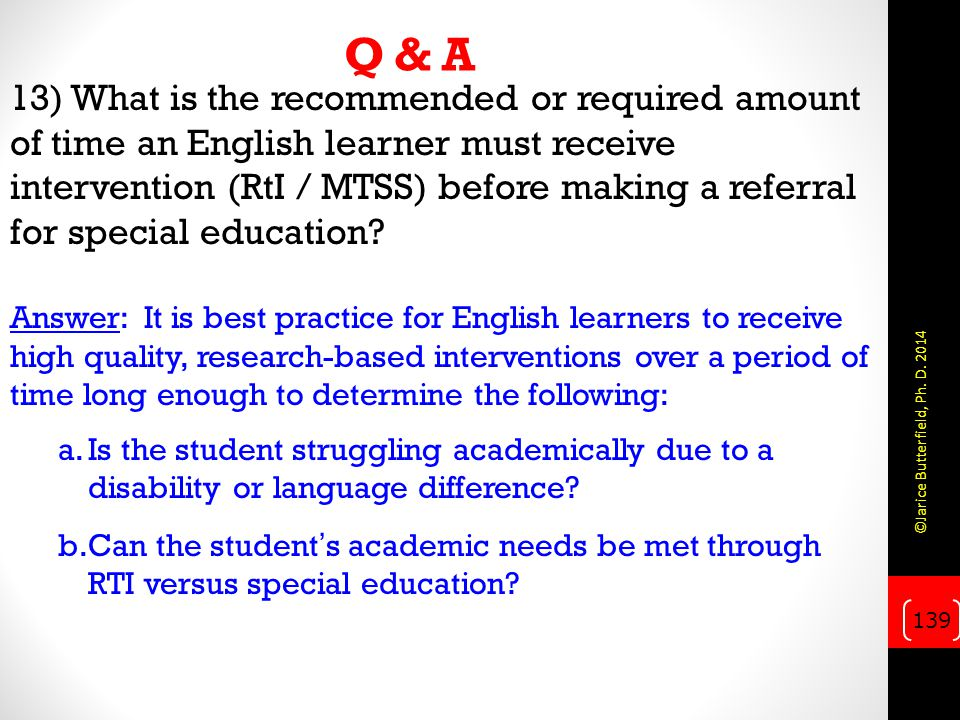 Q & A 13) What is the recommended or required amount