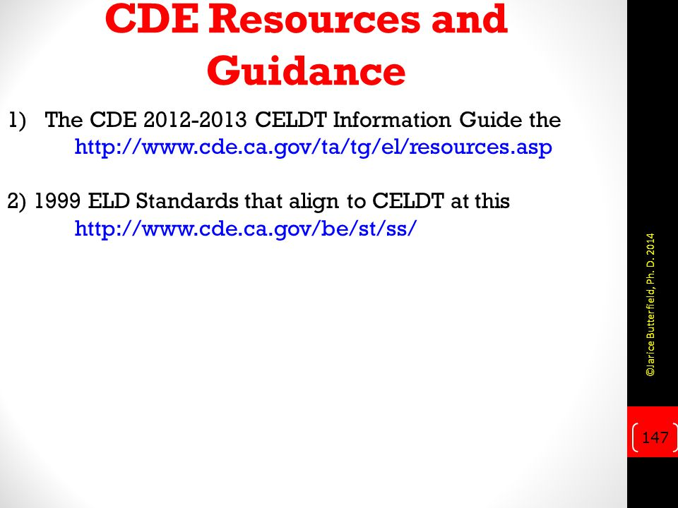 CDE Resources and Guidance