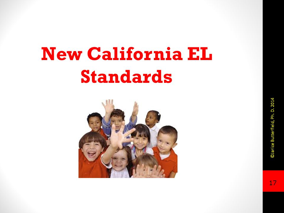 New California EL Standards
