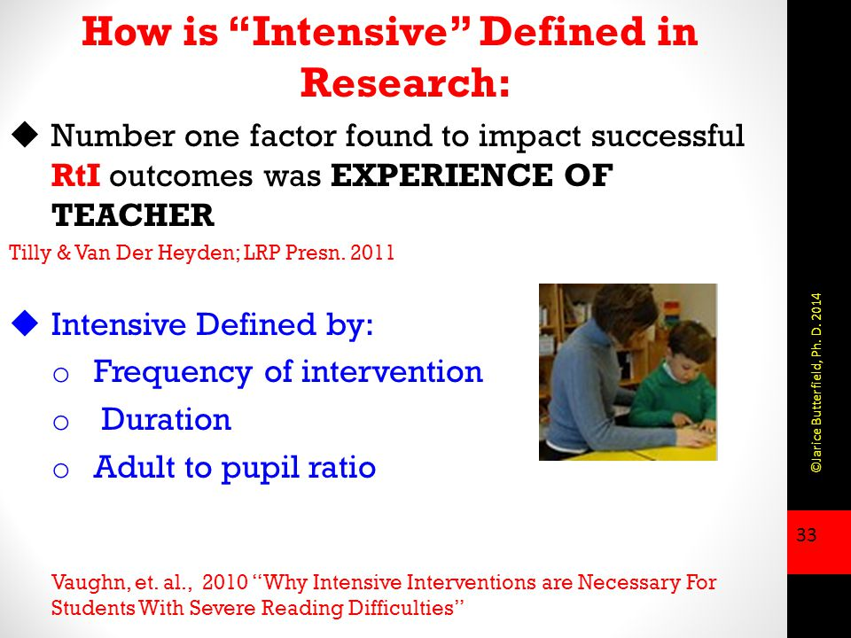 How is Intensive Defined in Research: