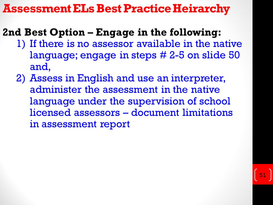 Assessment of ELs Best Practices