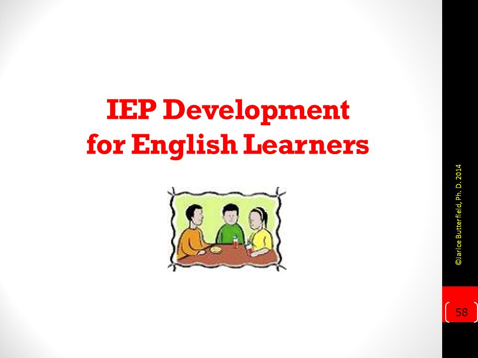 IEP Development for English Learners