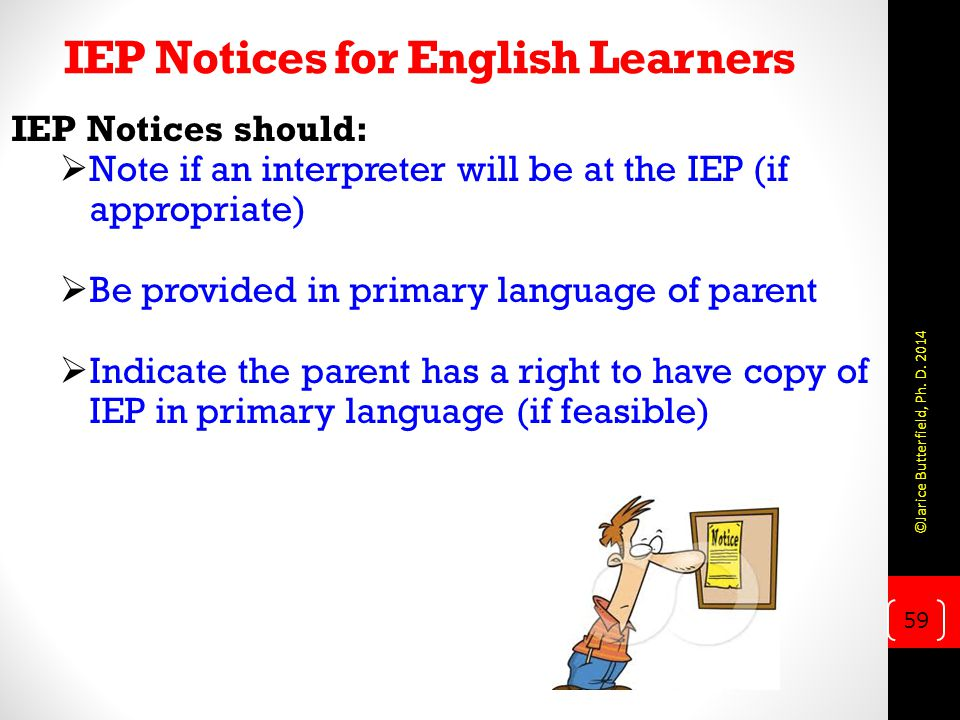 IEP Notices for English Learners