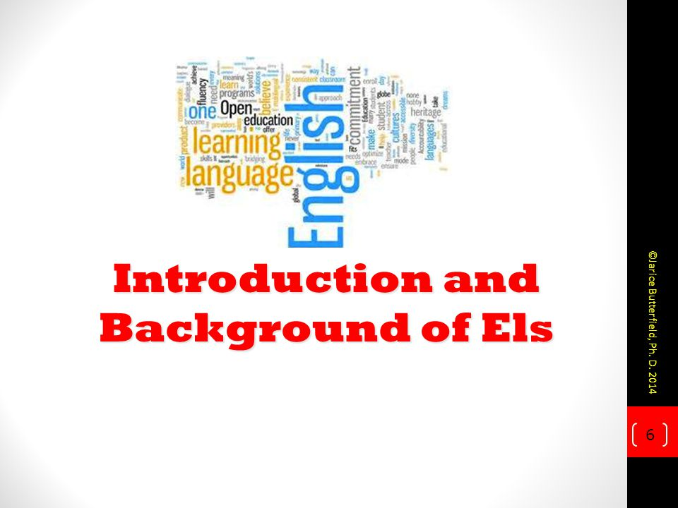 Introduction and Background of Els