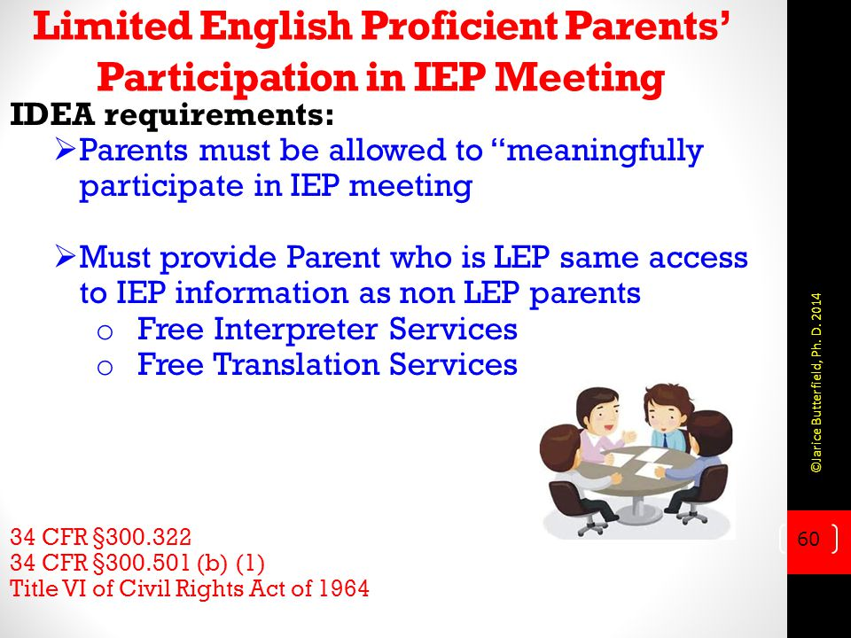 Limited English Proficient Parents' Participation in IEP Meeting