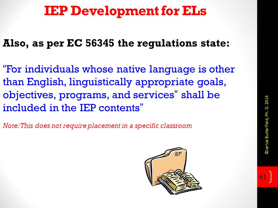 IEP Development for ELs