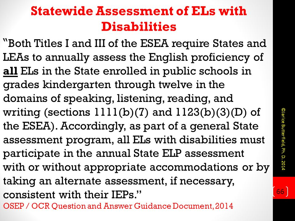 Statewide Assessment of ELs with Disabilities