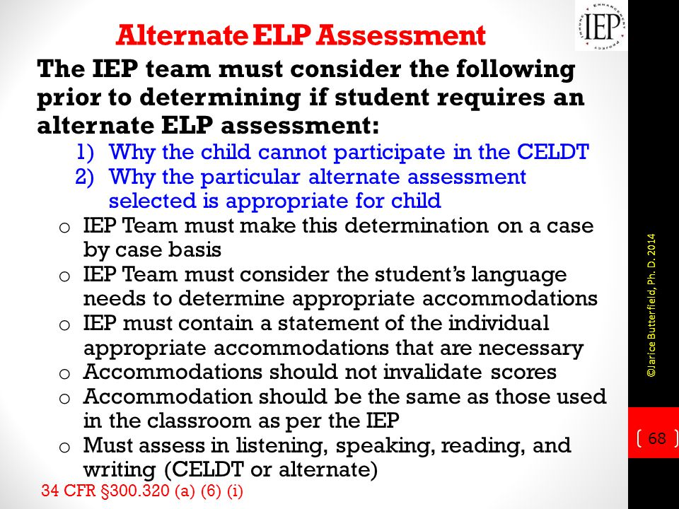Alternate ELP Assessment